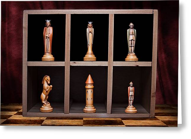 Chess Rook Greeting Cards - Display of Strength Still Life Chess Greeting Card by Tom Mc Nemar