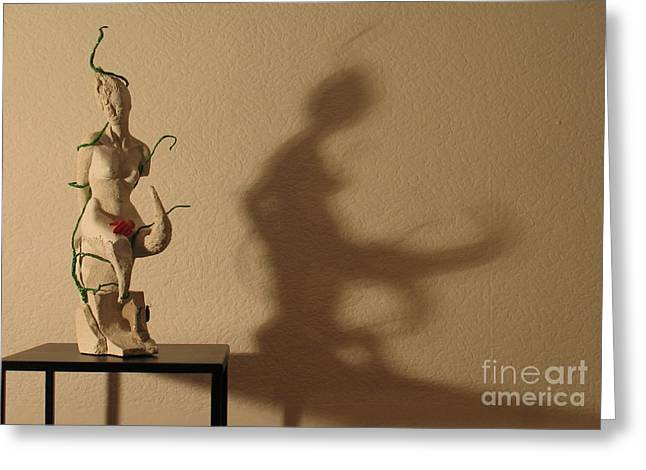 Organic Sculptures Greeting Cards - Display sculpture - 3 Greeting Card by Flow Fitzgerald