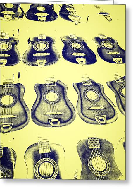 Dissolving Greeting Cards - Dissolving Guitars Greeting Card by Caitlyn  Grasso