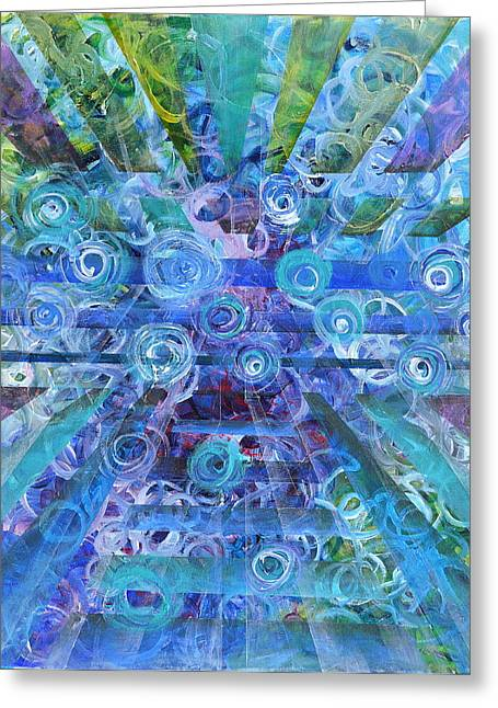 Counterpoint Greeting Cards - Dissonance Greeting Card by Regina Valluzzi
