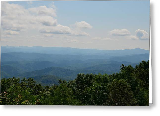 Farm Greeting Cards - Distant Blue Ridge - 51011676 Greeting Card by Paul Lyndon Phillips