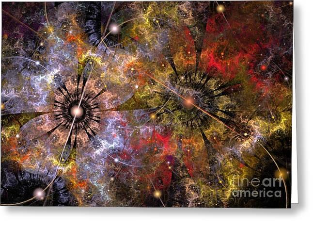 Distant Cosmos Greeting Card by Svetlana Nikolova