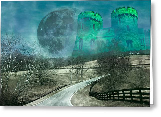Super Castle Greeting Cards - Distant Emerald Greeting Card by Betsy C  Knapp