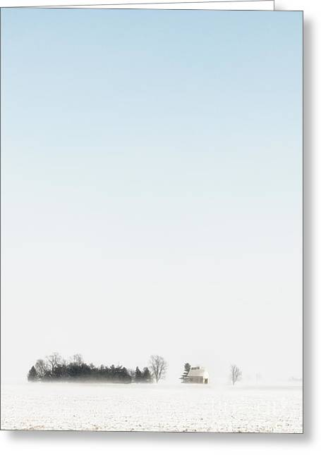 Pasture Scenes Greeting Cards - Distant Farm Greeting Card by Margie Hurwich