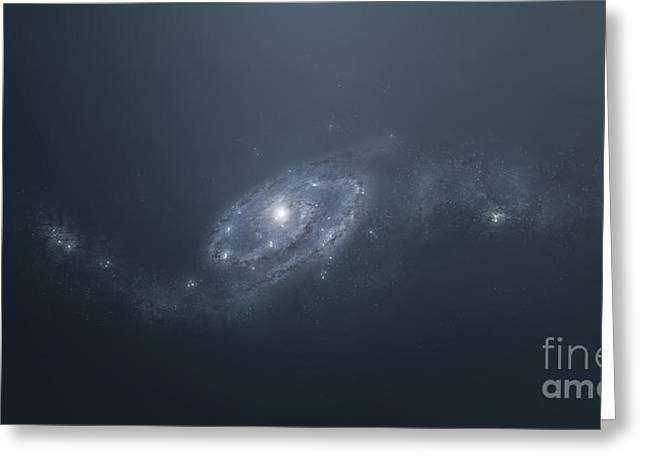 Twinkle Greeting Cards - Distant Galaxy Visible From Space Greeting Card by Tomasz Dabrowski