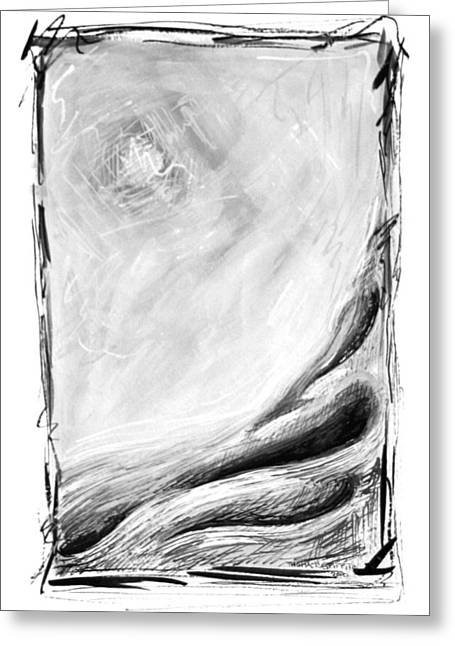 Haze Paintings Greeting Cards - Distant Haze Greeting Card by Thomas Griffith