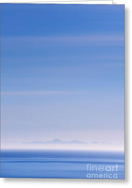 Northern Ireland Greeting Cards - Distant Hills Greeting Card by Rod McLean