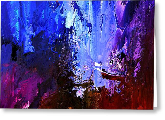 Best Sellers -  - Abstract Digital Paintings Greeting Cards - Distant Light Greeting Card by Kume Bryant