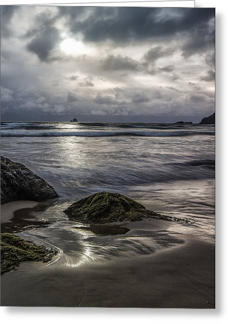 Photogaphy Greeting Cards - Distant Lighthouse II Greeting Card by Jon Glaser