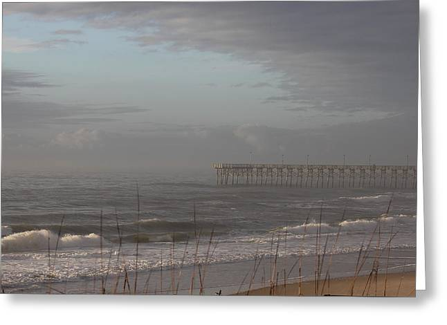 Distant Pier Greeting Card by Static Studios