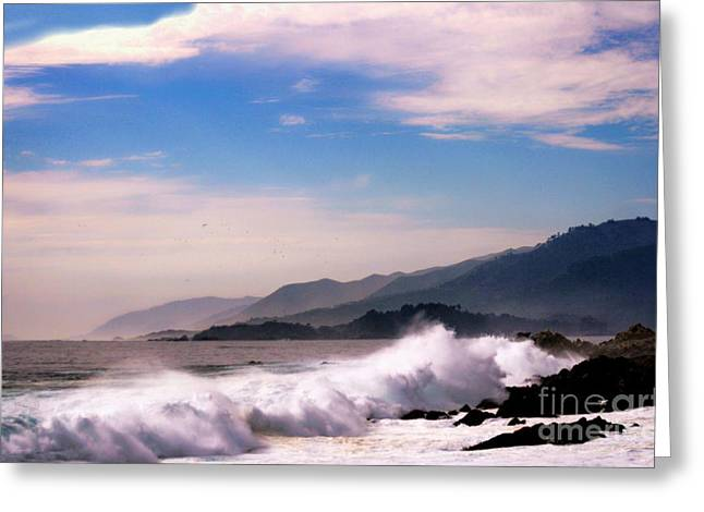 Ocen Landscape Greeting Cards - Distant Shores Greeting Card by Polly Peacock