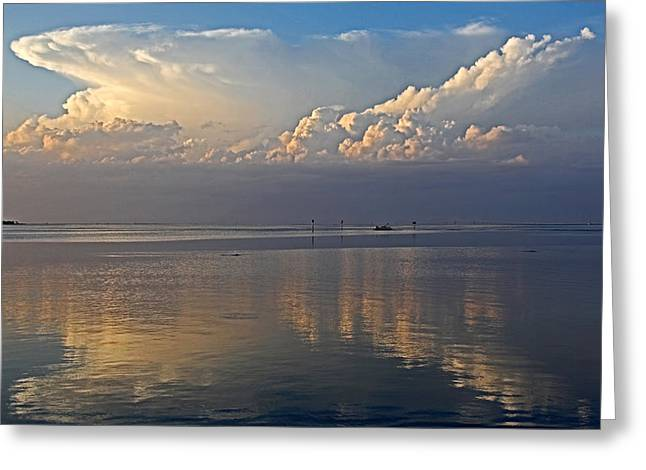 Turbulent Skies Greeting Cards - Distant Thunder Greeting Card by HH Photography of Florida