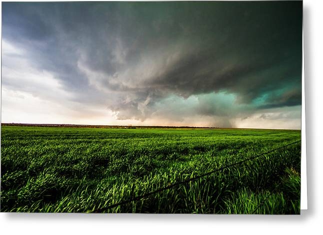 Prairie Storm Picture Greeting Cards - Distant Thunderstorm Greeting Card by Sean Ramsey