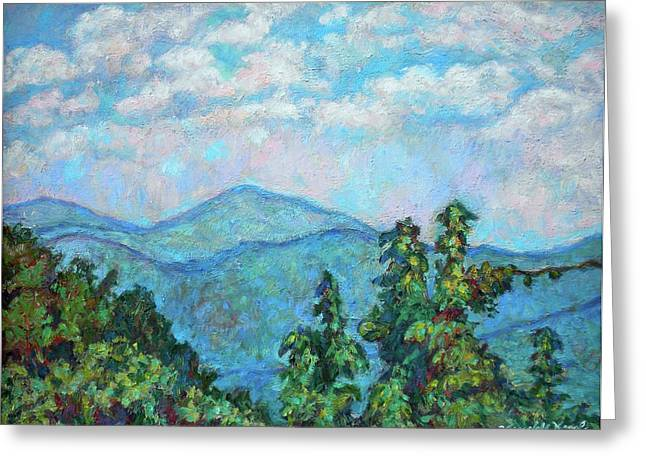 Impressionism Greeting Cards - Distant View of Peaks of Otter Greeting Card by Kendall Kessler