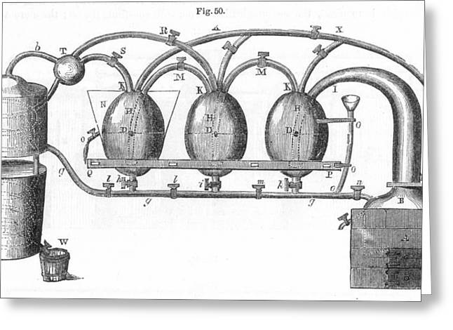 1801 Greeting Cards - Distillation, 1801 Greeting Card by Granger