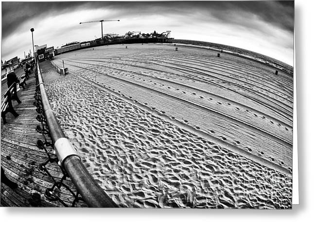 Seaside Heights Greeting Cards - Distorted Beach Greeting Card by John Rizzuto