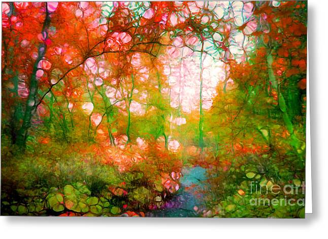 Distortion Greeting Cards - Distortions of Autumn Greeting Card by Tara Turner