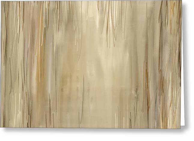 Beige Abstract Greeting Cards - Distressed Appeal Greeting Card by Lourry Legarde