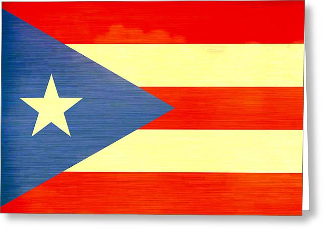 Puerto Rican Greeting Cards - Distressed Puerto Rico Flag Greeting Card by Dan Sproul