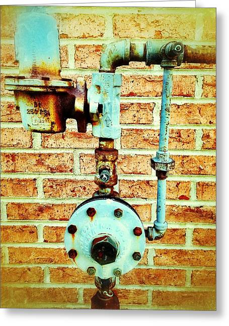 Gas Meter Greeting Cards - Distribution Greeting Card by Olivier Calas