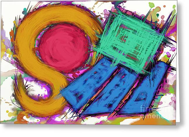 Loose Style Digital Greeting Cards - Disturbance Greeting Card by Keith Mills