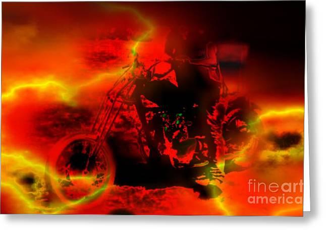 Unusual Lightning Digital Art Greeting Cards - Disturbance Greeting Card by TLynn Brentnall