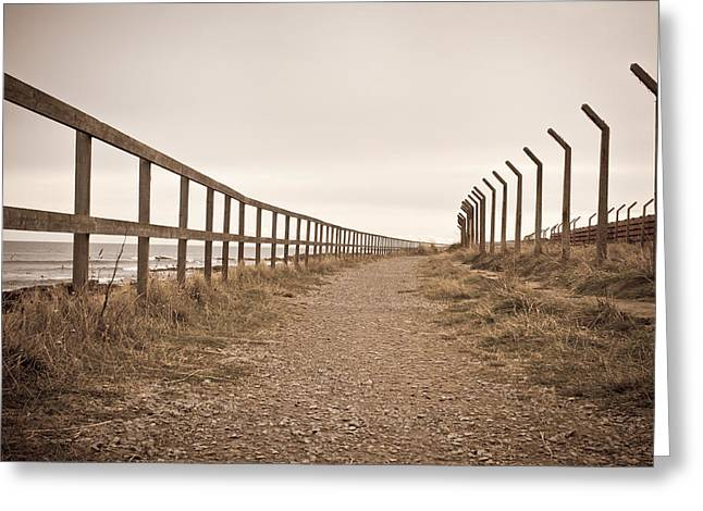 Highlander Greeting Cards - Disused path Greeting Card by Tom Gowanlock
