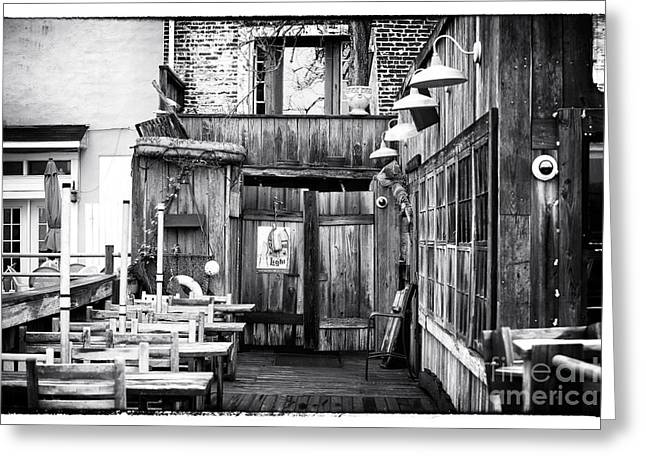 Diva Photographs Greeting Cards - Dive Bar Greeting Card by John Rizzuto