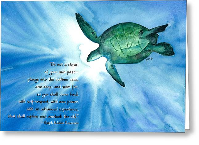 Dive Deep Greeting Card by Michal Madison