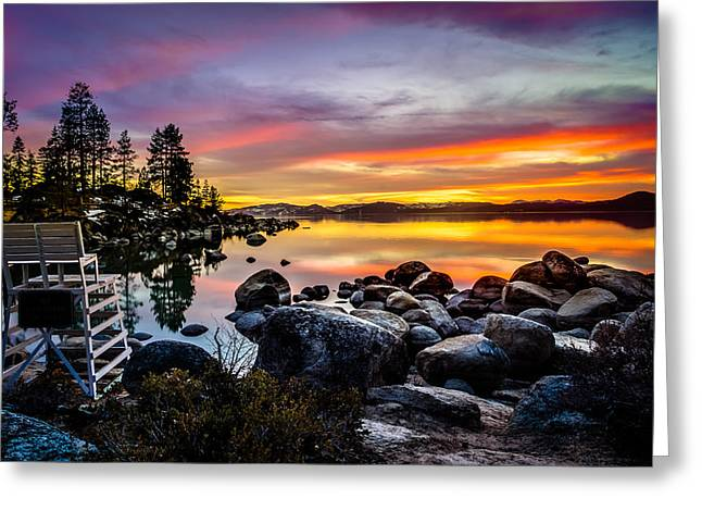 S Landscape Photography Greeting Cards - Divers Cove Lake Tahoe Greeting Card by Scott McGuire