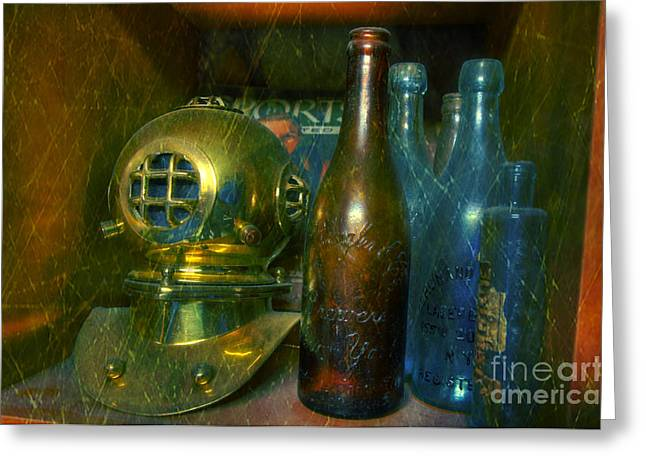 Hard Hat Greeting Cards - Divers Treasure Greeting Card by Paul Ward