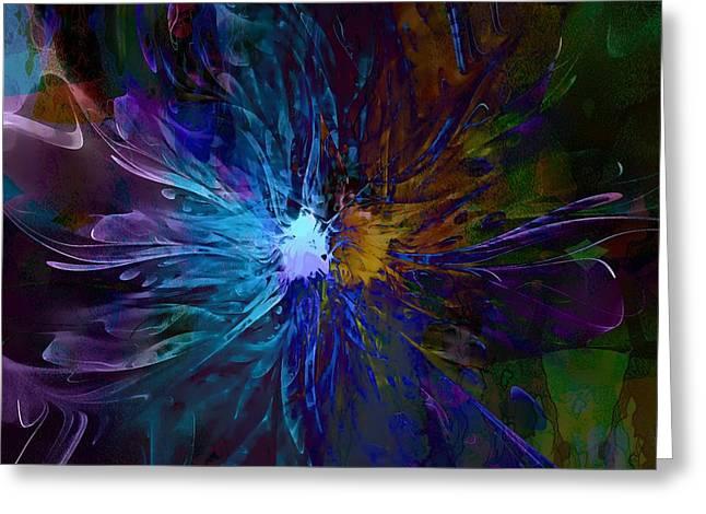 Floral Digital Art Greeting Cards - Diversity Greeting Card by Amanda Moore