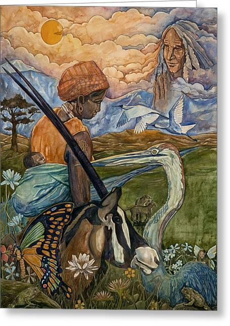 Diversity Paintings Greeting Cards - Diversity Greeting Card by Dave Kobrenski