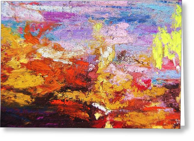 Abstract Expressionist Greeting Cards - Diversity Greeting Card by John Clark