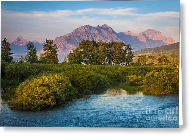 Divide Greeting Cards - Divide Creek Morning Greeting Card by Inge Johnsson