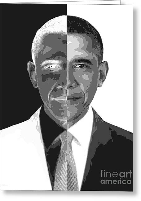 President Obama Digital Art Greeting Cards - Divider In Chief Greeting Card by Cristophers Dream Artistry
