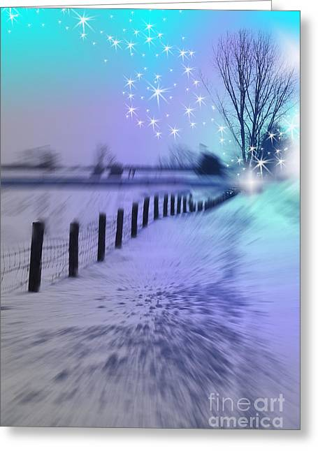 Fenceline Greeting Cards - Dividing Chaos With Magic Greeting Card by Cathy  Beharriell
