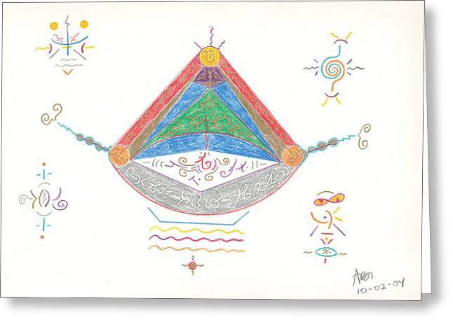 Water Vessels Drawings Greeting Cards - Divine Balance Greeting Card by Mark David Gerson