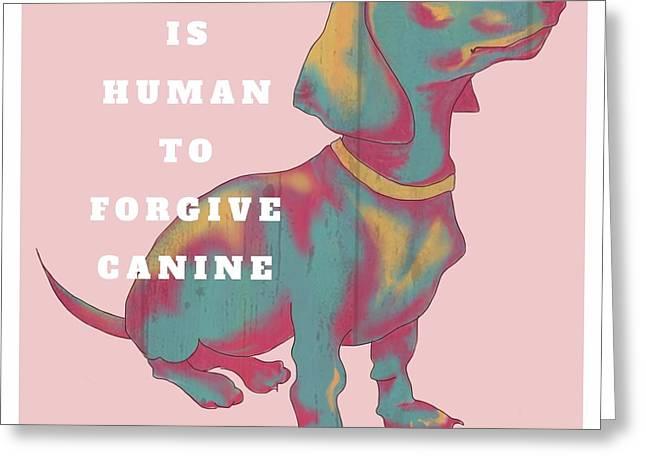 Dachshund Art Digital Art Greeting Cards - Divine canine Greeting Card by Robin Wiesneth
