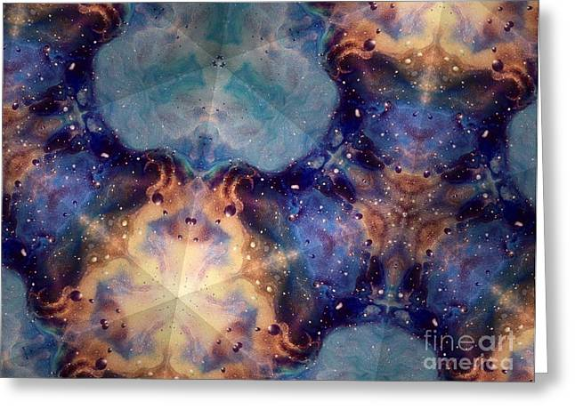 Multidimensional Greeting Cards - Divine Essence Greeting Card by Denise Nickey