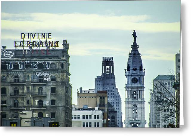 Divine Lorraine And City Hall Greeting Card by Bill Cannon