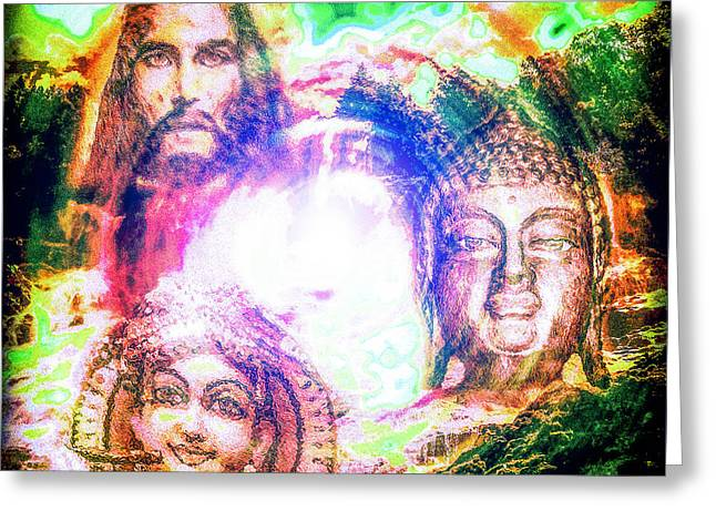 Goddess Durga Digital Art Greeting Cards - Divine Love 3 Play Greeting Card by Tarik Eltawil