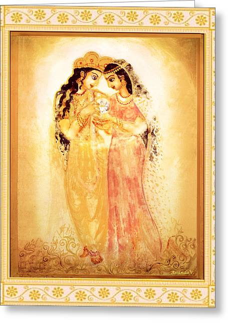 Goddess Print Greeting Cards - Divine Love Greeting Card by Ananda Vdovic