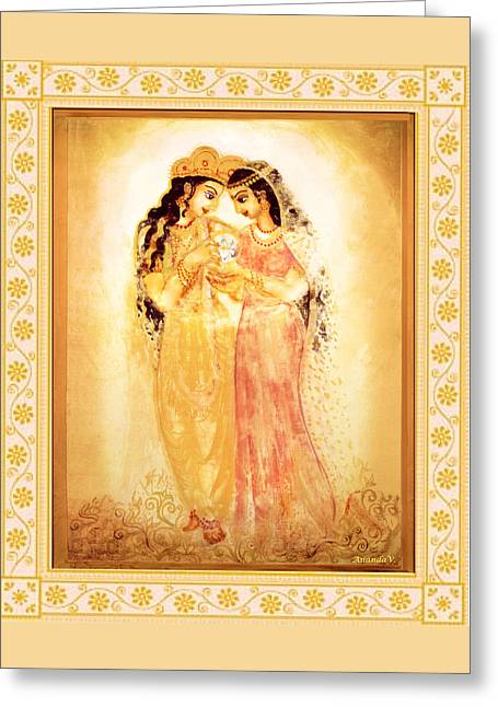 Featured Art Greeting Cards - Divine Love Greeting Card by Ananda Vdovic