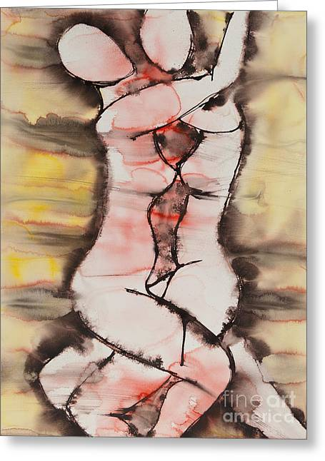 Best Sellers -  - Empowerment Greeting Cards - Divine Love Series No. 1412 Greeting Card by Ilisa  Millermoon