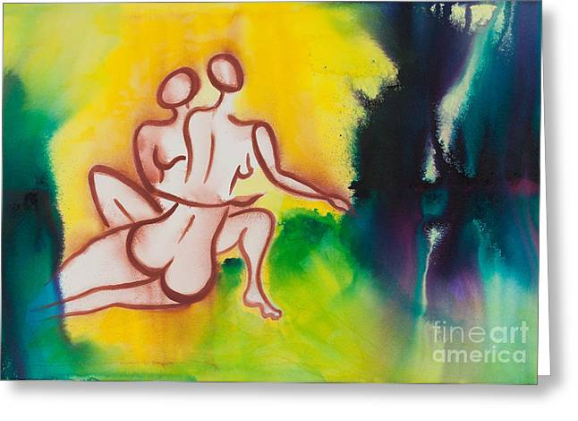 Lgbtq Greeting Cards - Divine Love Series No. 2093 Greeting Card by Ilisa  Millermoon