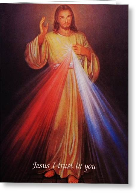 Divine Mercy Greeting Cards - Divine Mercy big file Greeting Card by Anna Baker