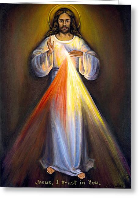 Divine Mercy Greeting Cards - Divine Mercy I Greeting Card by Sheila Diemert