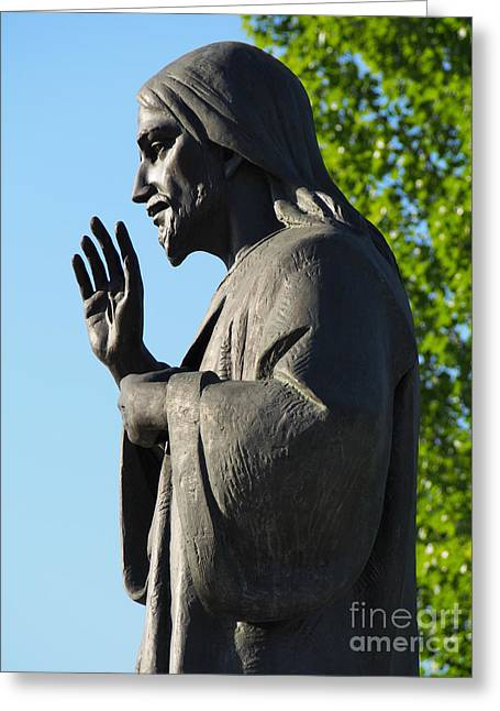 Divine Mercy Greeting Cards - Divine Mercy statue Greeting Card by Andrzej Tokarski