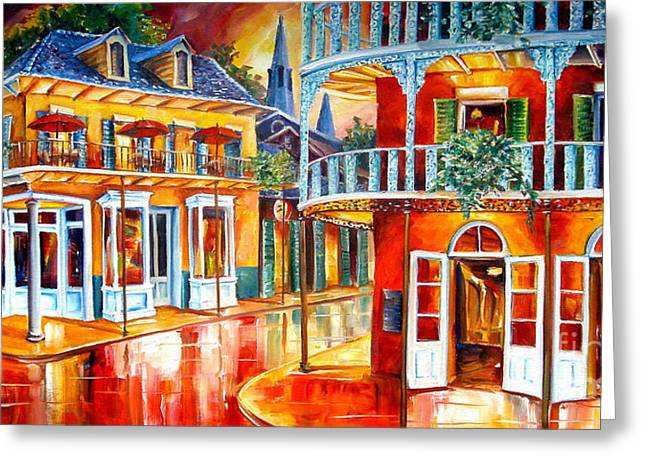 French Quarter Doors Greeting Cards - Divine New Orleans Greeting Card by Diane Millsap